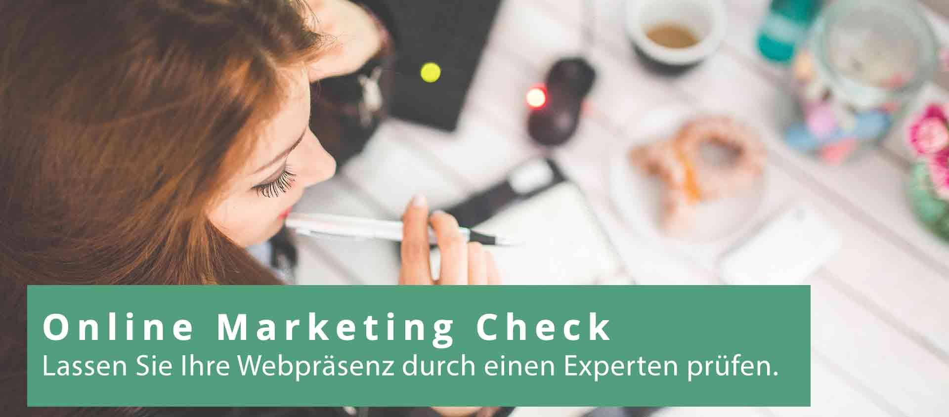 Online Marketing Check von mehr.digital